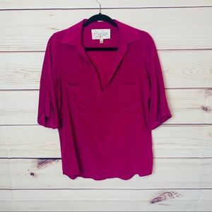 Rory Beca Pink Silk Blouse